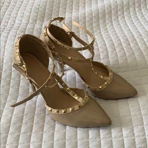 wild diva diamond studded shoes